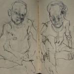 Drawing - Mursi Ethiopia