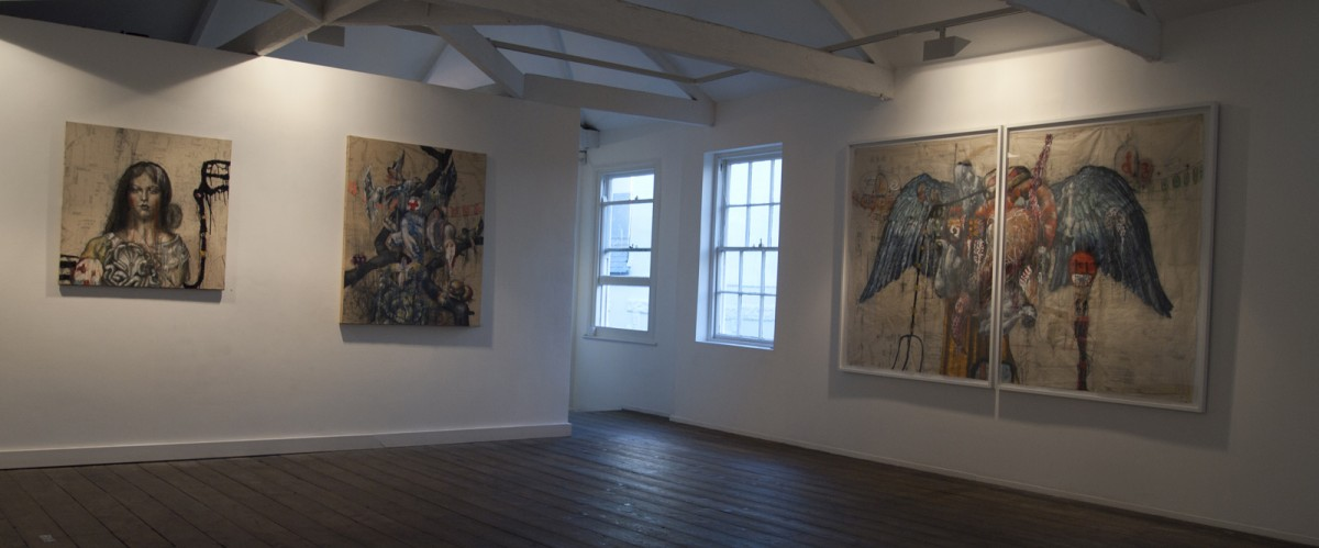 """Fledge"" - Gallery View 2. Millennium Gallery, UK 2013"